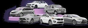various sizes of car rentals