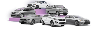 assorted rental vehicles